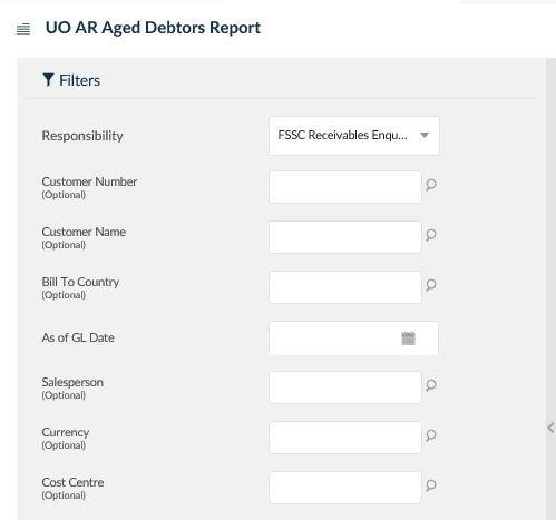 uo ar aged debtors report