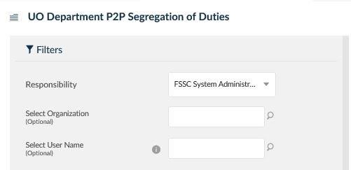 uo department p2p segregation of duties