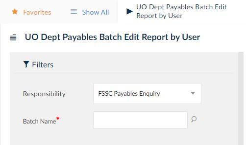uo dept payables batch edit