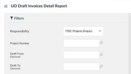 uo draft invoices detail report