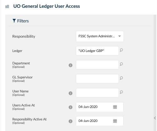 uo general ledger user access