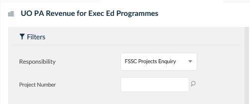 uo pa revenue for exec ed programmes