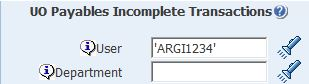 uo payables incomplete transactions parameters