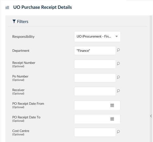 uo purchase receipt details