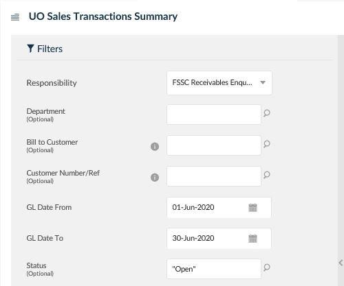 uo sales transactions summary